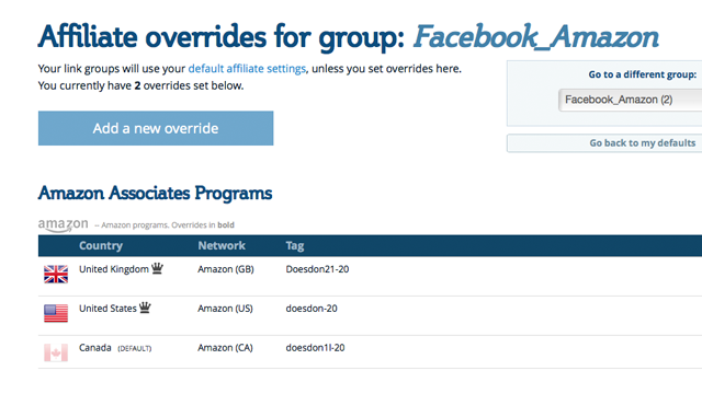Introducing the Groups Page and Affiliate Overrides