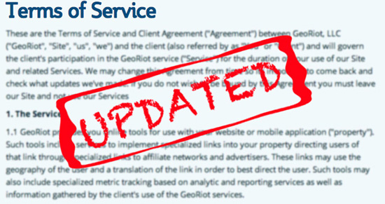 Terms of Service Update