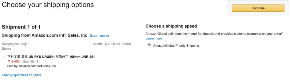 AmazonGlobal Priority Shipping