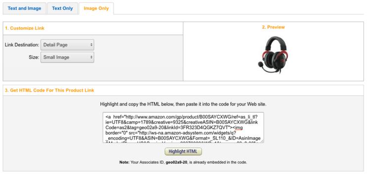 Amazon Product HTML
