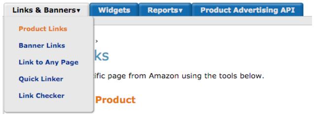 Amazon Link Banner Menu