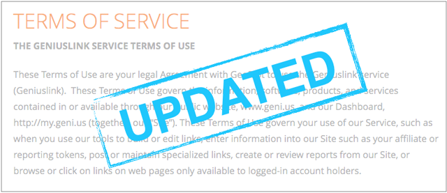 Updated Terms of Service