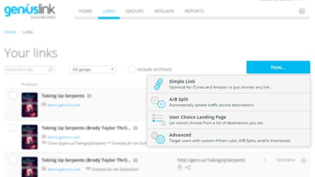 New Geniuslink Link Creator design