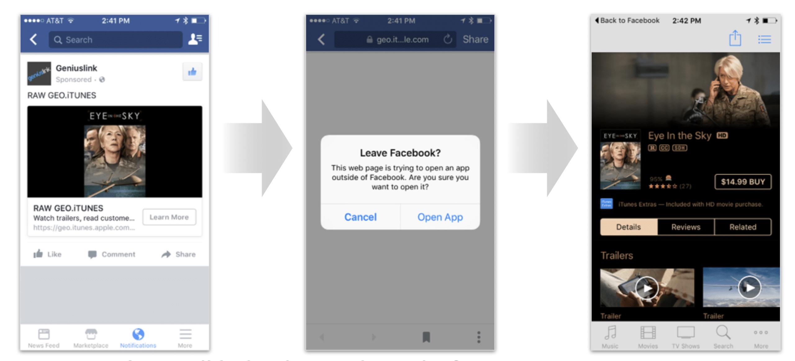 Facebook Miss-Reports iTunes Clicks