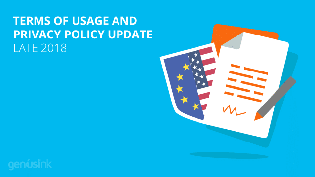Terms of Usage and Privacy Policy Update - Late 2018