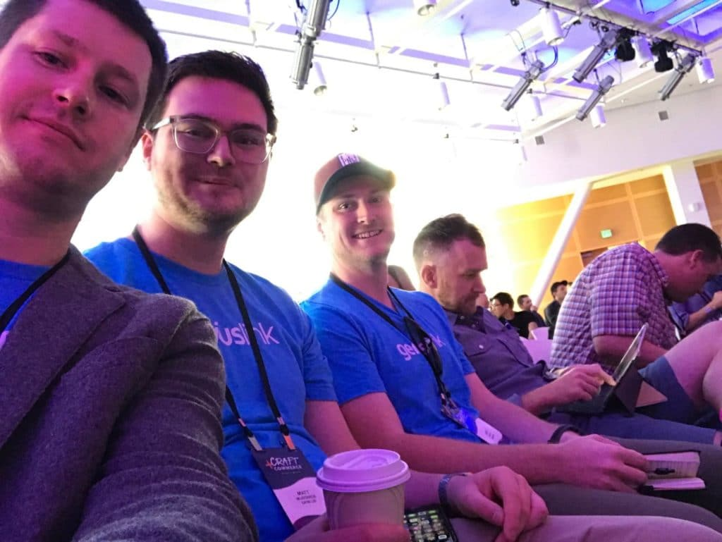 Geniuslink Team at the conference