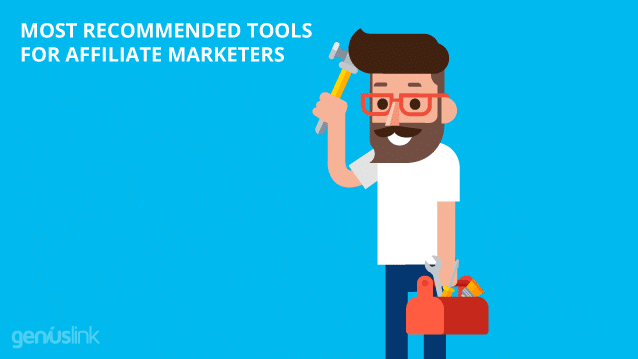 Most Reccommended Tools For Affiliate Marketers, Man scratching his head with tool (hammer)