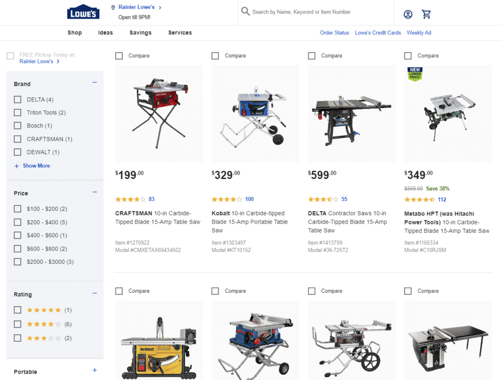 Lowe's Products