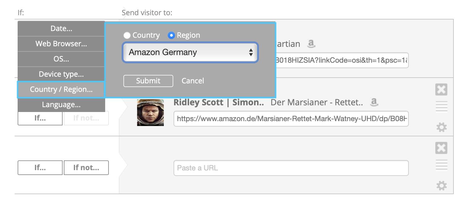 Amazon Region Options